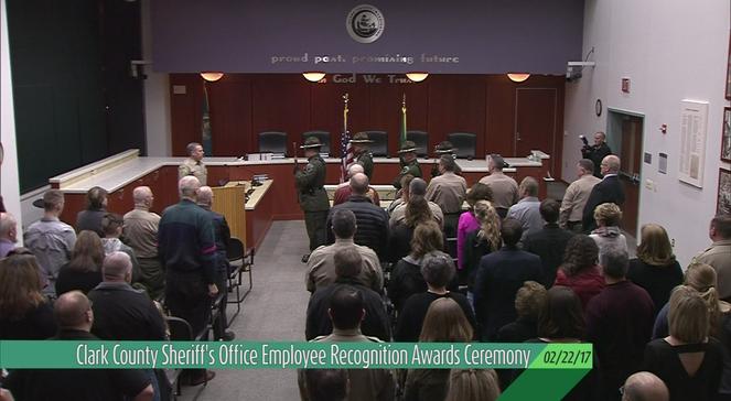 Clark County Sheriff's Office Award Ceremony (02-22-17)